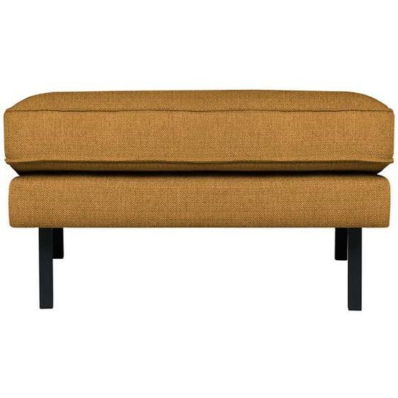 Couchhocker in Hellbraun Webstoff 45 cm Sitzhöhe