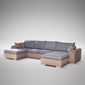 Couchlandschaft mit Schlaffunktion und Bettkasten modern