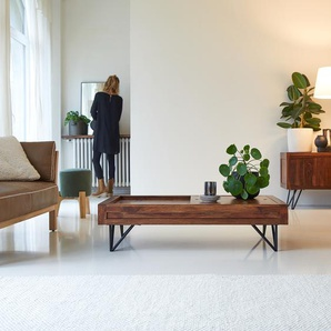 Couchtisch aus Palisanderholz Sheesham Massivholz 120x68 cm