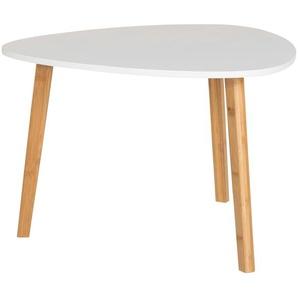 Couchtisch  Bamboo ¦ weiß ¦ Maße (cm): B: 60 H: 40 Tische  Couchtische  Couchtische andere Formen - Höffner