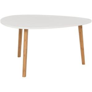 Couchtisch  Bamboo ¦ weiß ¦ Maße (cm): B: 80 H: 40 Tische  Couchtische  Couchtische andere Formen - Höffner