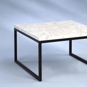 Couchtisch Beistelltisch HENNY 60x60 cm Marmor Hell Optik