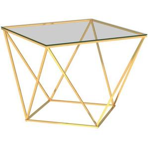 Couchtisch Golden 80x80x45 cm Edelstahl