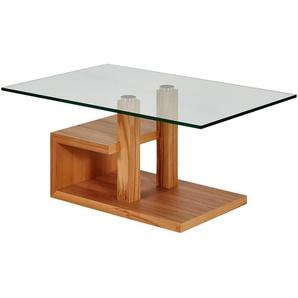 Couchtisch mit Glas und Holzfurnier  Han ¦ holzfarben ¦ Maße (cm): B: 90 H: 44 T: 60 Tische  Couchtische  Couchtische andere Formen » Höffner