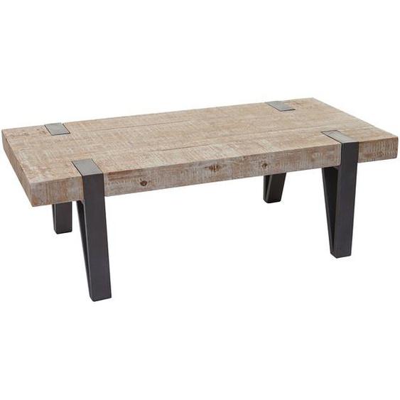 Couchtisch HWC-A15b, Wohnzimmertisch, Tanne Holz rustikal massiv 40x120x60cm