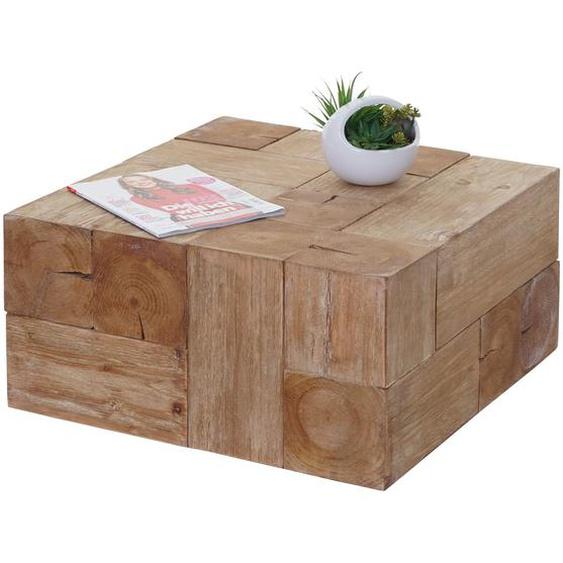 Couchtisch HWC-A15c, Wohnzimmertisch, Tanne Holz rustikal massiv 30x60x60cm