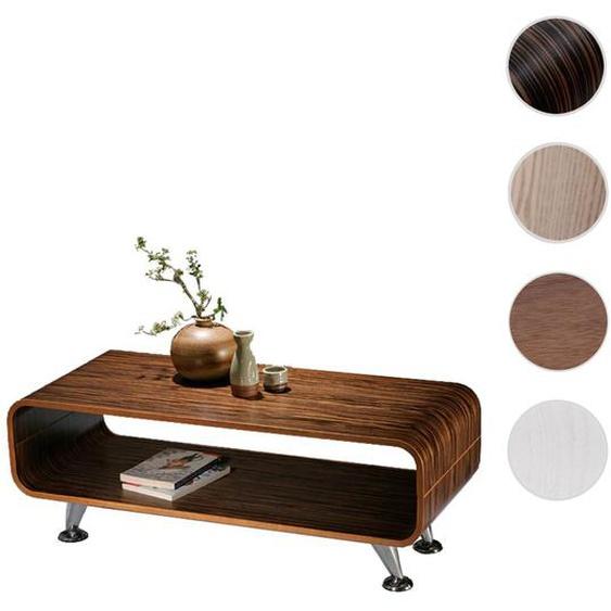 Couchtisch HWC-B97, Loungetisch Club Tisch, 34x90x39cm ~ Zebra dunkel, breite Streifen