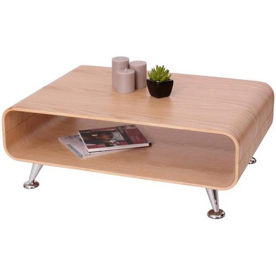 Couchtisch HWC-B97 XXL, Tisch Loungetisch Club Tisch, 33x90x60cm ~ Eiche natur