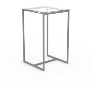 Couchtisch Kristallglas klar - Eleganter Sofatisch: Beste Qualität, einzigartiges Design - 42 x 70 x 42 cm, Konfigurator