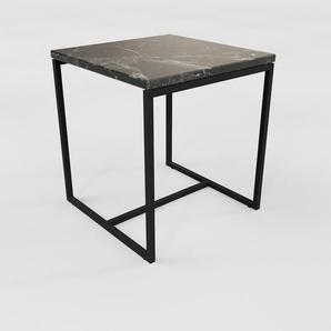 Couchtisch schwarzer Marquina, Marmor - Eleganter Sofatisch: Beste Qualität, einzigartiges Design - 42 x 47 x 42 cm, Konfigurator