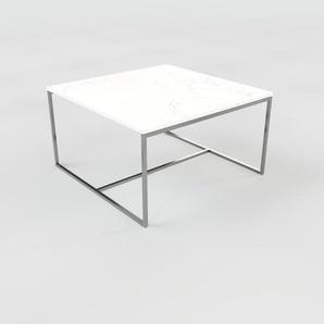 Couchtisch weißer Carrara, Marmor - Eleganter Sofatisch: Beste Qualität, einzigartiges Design - 81 x 47 x 81 cm, Konfigurator