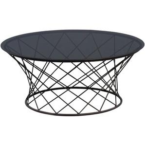 Couchtisch Noa in schwarz, 80 cm