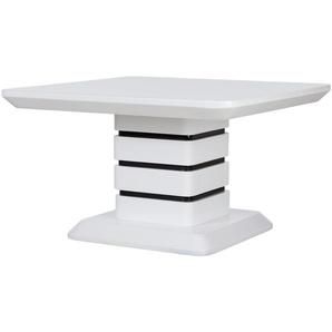 Couchtisch schwarz weiß eckig  Jutta ¦ weiß ¦ Maße (cm): B: 70 H: 42 T: 70 Tische  Couchtische  Couchtische rechteckig » Höffner