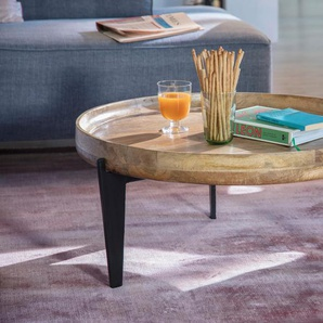 Couchtisch »T-TRAY TABLE LARGE«, FSC®-zertifiziert, orange, Material Stahl / Mangoholz, TOM TAILOR