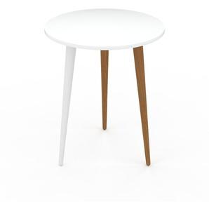 Couchtisch Weiß - Eleganter Sofatisch: Beste Qualität, einzigartiges Design - 40 x 50 x 40 cm, Konfigurator