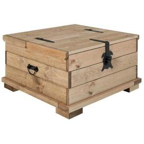 Couchtruhe aus Kiefer Massivholz rustikalen Landhausstil