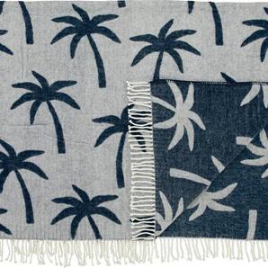 Covers & Co Wohndecke »Palmera«, 130x170 cm, blau