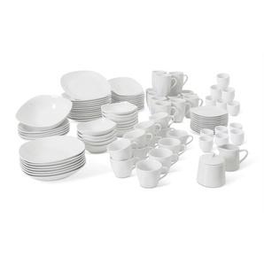 CreaTable Kombiservice ,Weiß ,Porzellan