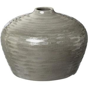 Creativ deco Tischvase »HUMILIS« (1 Stück), aus Keramik, mit Streifenmuster