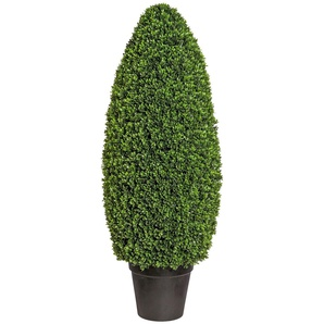 Creativ green Kunstpflanze Buchsbaumsäule im Formschnitt, Kunststofftopf Ø 45 cm grün Künstliche Zimmerpflanzen Kunstpflanzen Wohnaccessoires