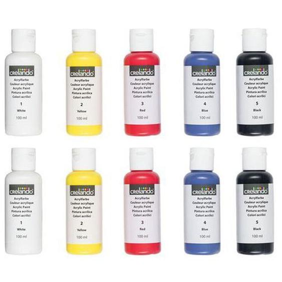 CRELANDO® 10 Acryl Basisfarben