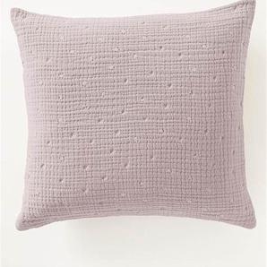 Crinkle-Kissenhülle helles Flieder - bunt - 100 % Baumwolle - Zierkissen & Polsterrollen  Zierkissen - Kissenbezüge