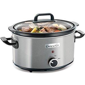 Crock-Pot CSC025X Schongarer - Das Original aus den USA | Slow Cooker 3.5 L | Warmhaltefunktion | mit Rezeptheft | Spülmaschinenfester Topf und Deckel | Edelstahl