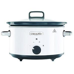 Crock-Pot CSC030X weißer Schongarer - Das Original aus den USA | Slow Cooker 3.5 L | Warmhaltefunktion | mit Rezeptheft | Spülmaschinenfester Topf und Deckel | Weiß