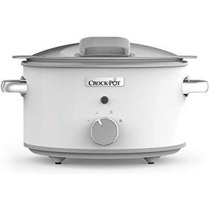 Crock-Pot CSC038X Saute-Schongarer mit Scharnierdeckel - Das Original | Slow Cooker 4.5 L | Warmhaltefunktion | Scharnierdeckel | Weiß