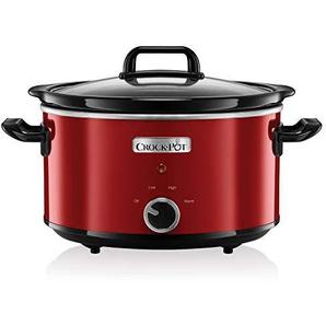 Crock-Pot SCV400RD-050 Schongarer - Das Original aus den USA | Slow Cooker 3.5 L | Warmhaltefunktion | mit Rezeptheft | Spülmaschinenfester Topf und Deckel | Rot