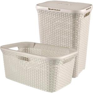 CURVER Wäschebox »STYLE Wäschebox+Wäschekorb«, 2´er-Set