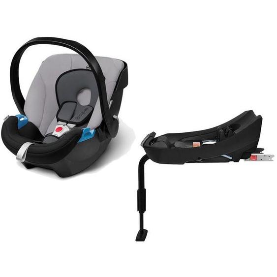 CYBEX SILVER Set Babyschale Aton Gray Rabbit und Base-Fix SL