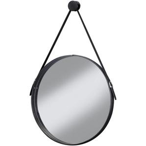 CYGNUS BATH Spiegel »Brooklyn«, runder Wandspiegel mit Halterung , Schwarz Durchmesser 51cm