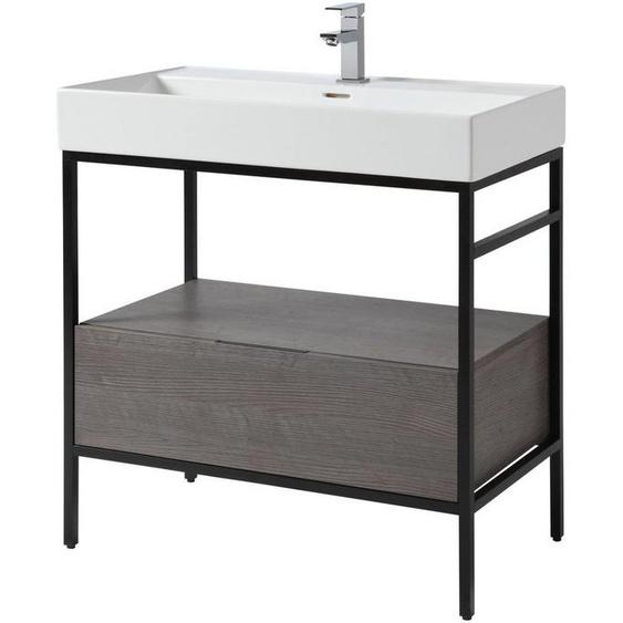 CYGNUS BATH Waschtisch »Brooklyn«, mit Aufsatzbecken und Metallgestell, Breite 80 cm