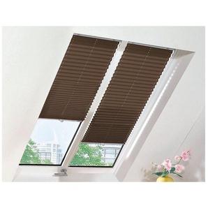 Dachfensterplissee nach Maß »Crush Optik«, sunlines, Lichtschutz, mit Bohren, verspannt