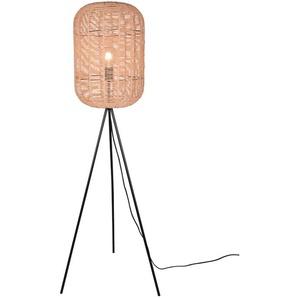 DAHEIM Stehlampe, Braun, Naturfaser