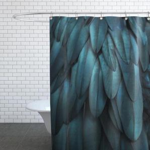 Dark Feathers - Duschvorhang