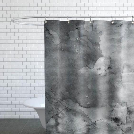 Dark Watercolor-Duschvorhang