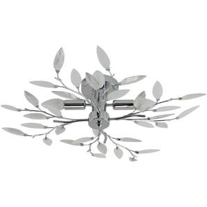 Deckenlampe Blatt-Elemente Dekorglas ¦ silber Ø: 60
