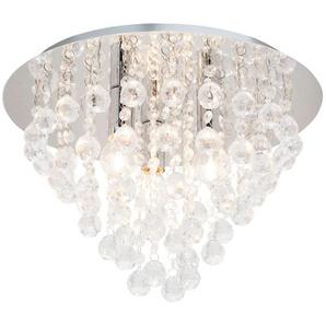 Deckenlampe mit hängenden Acrylbehang ¦ silber Ø: 38