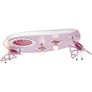Deckenleuchte, 4+1 flammig rosa - rosa/pink - 50 cm - 20 cm | Möbel Kraft