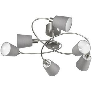 : Deckenleuchte, Grau, Nickel, H 32