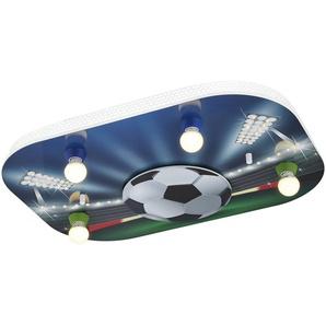 Deckenleuchte mit Stadion-Motiv - blau - 50 cm - 8 cm | Möbel Kraft