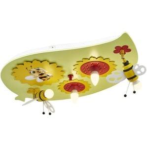 Deckenleuchte, Sonnenblume mit Biene - grün - 50 cm | Möbel Kraft