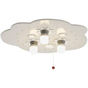 Deckenleuchte Sternenhimmel Holz weiß - weiß - 35 cm | Möbel Kraft