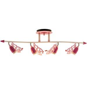 Deckenstrahler Schmetterlinge Holz rosa ¦ rosa/pink ¦ Maße (cm): B: 100 H: 25 T: 25