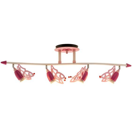 Deckenstrahler Schmetterlinge Holz rosa ¦ rosa/pink