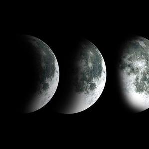 Deco-Panel »Monde«, schwarz, 30x90cm,