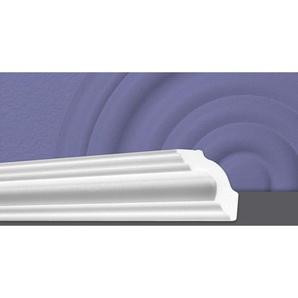 Decosa Zierprofil A50 (Sonja), weiss, 50 x 50 mm Laenge 2 m - 60 Stueck - DECOSA®