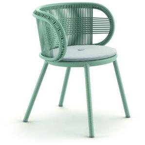 Dedon - Cirql Armchair mit Sitzkissen - bluestone - outdoor
